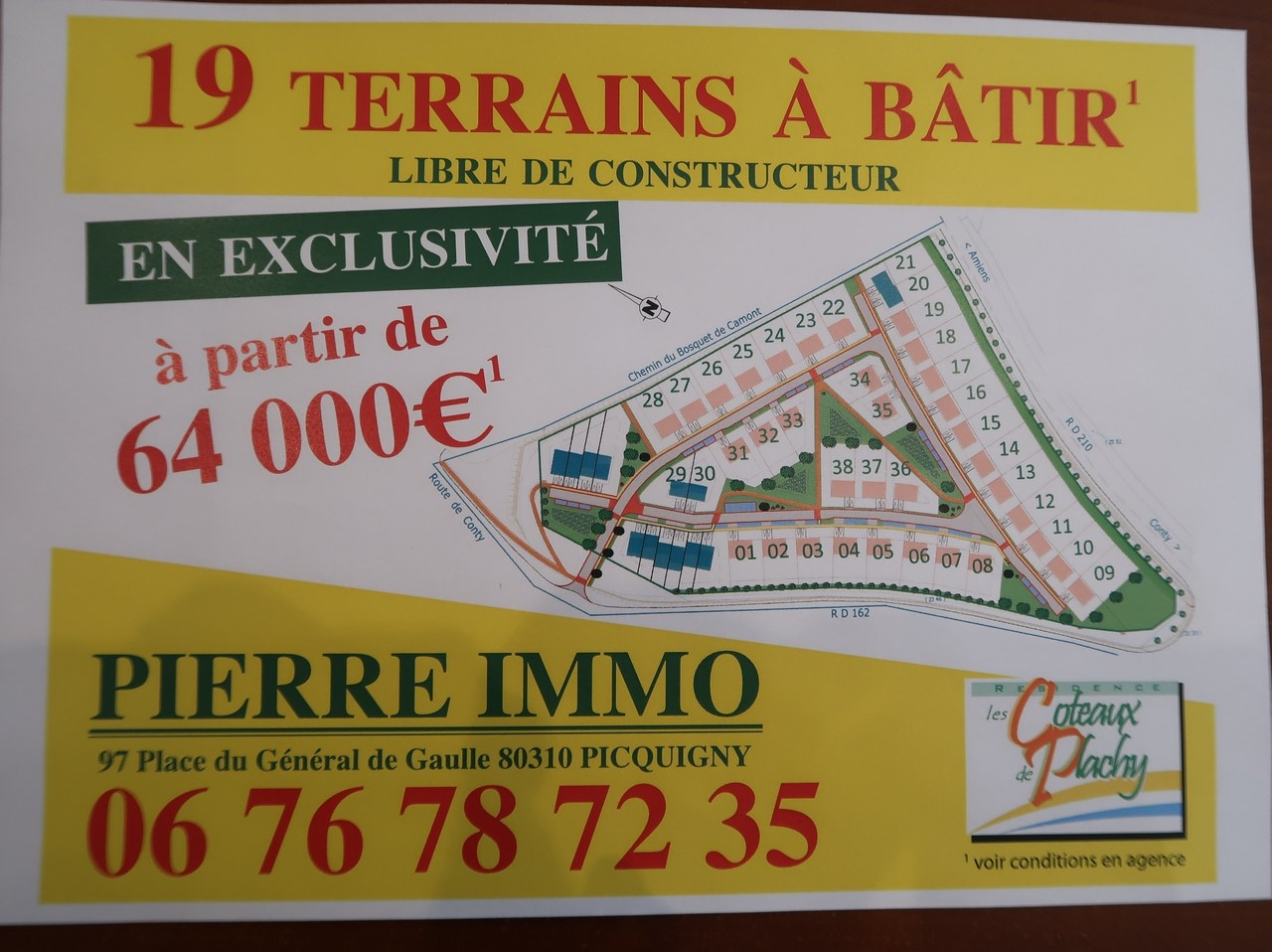 TERRAIN A BATIR 0 pièce(s) EXTERIEUR AMIENS